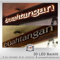 3D LED Backlit indoor sign