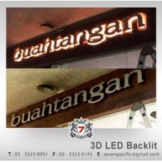3D LED Backlit indoor sign