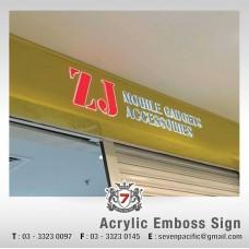 Acrylic Emboss Sign