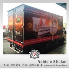 Lorry Sticker Apply