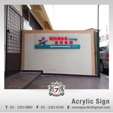 Acrylic Sign with Sticker