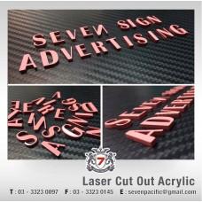 3D Acrylic with Spray Finishing