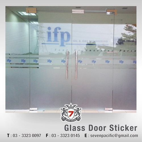 Glass door sticker sticker printing billboard malaysia vehicle sticker printing display sign banner bunting large format printing