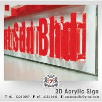 3D Arcylic and Sticker Sign