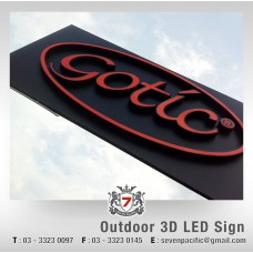 Outdoor 3D LED Sign